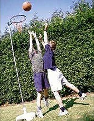 Casa Jardín Juego al aire libre Jugar Diversión Tamaño Completo poste de Netball con aro y red Set