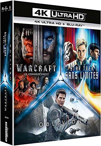 Preisvergleich Produktbild Coffret science-fiction 3 films : star trek sans limites ; warcraft,  le commencement ; oblivion 4k ultra hd [Blu-ray] [FR Import]