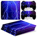 Morbuy PS4 Pro Vinyl Skin Full Body Cover Sticker Decal For Sony Playstation 4 Pro Console and 2 Dualshock Controller
