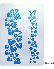 Stencil Plastic 2 Leaf Row 2set