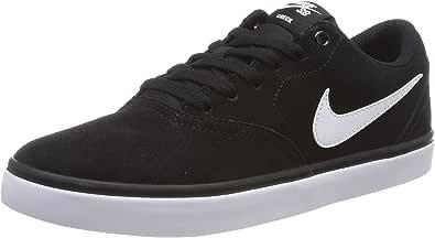 Nike Nike sb check solar, Men's skateboarding shoes, White (Black/White), 6.5 UK (40.5 EU)