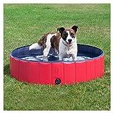 DELIFUR Faltbare PVC-Hundekatze-Wasser-Pool-Haustier-Schwimmen im Freien, das Teich-Tierwasser-Werkzeug im Sommer spielt (L)
