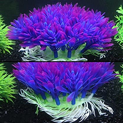 QHGstore Aquarium Decoration Artificial Water Plant Grass Plastic Purple Plant Fish Tank Landscape Ornament Decor 4