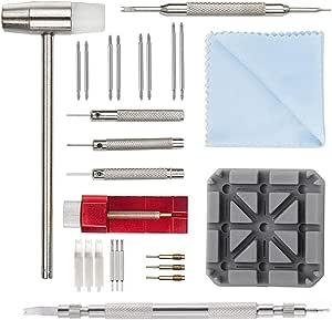 Kit de Réparation Montre Professionnel - Montre Bracelet Lien Pin Remover Kit de Réparation d'Outils de Watch Band pour Les Horlogers