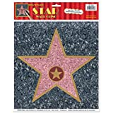 HOLLYWOOD THEME - PEEL N PLACE STAR WALL CLING (ONE IN PACK)