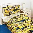 Despicable Me 2 Childrens/Kids Official Minions Face Single Duvet Cover Bedding Set