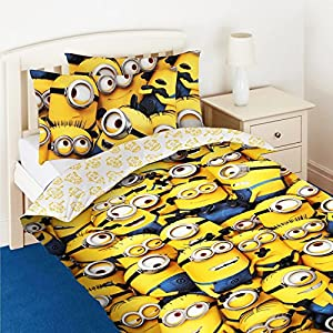 Despicable Me 2 Childrens/Kids Official Minions Face Single Duvet Cover Bedding Set