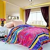 BDUK Antistatica di flanella di cotone calde coperte di lana copriletto Coral pisolino pomeridiano coperte lettiera coperta in inverno