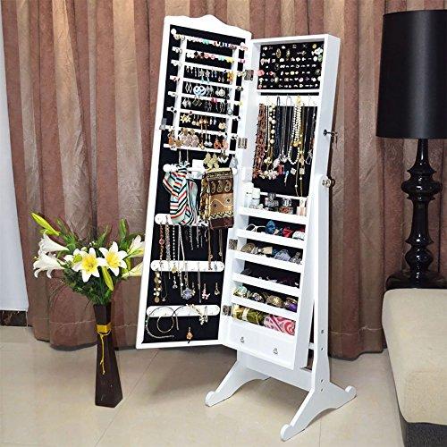 floor-standing-jewelry-jewellery-storage-box-cabinet-organiser-armoire-dressing-mirror-bedroom-furni
