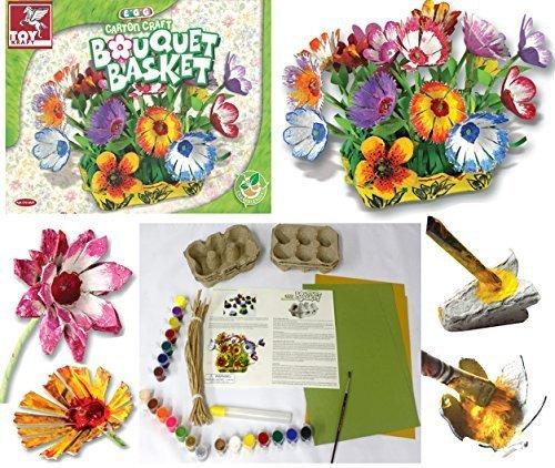 Ramo Floral Huevo Cartón Manualidades Kit Elaboración Creativo Niña Hobby Juguete Kit Relleno De Media Idea De Regalo
