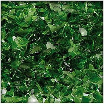 Kiesk/önig 1 kg Glassplitt Glasbruch Glassteine Glas Splitt Deko K/örnung 5-10 mm Dunkelgr/ün