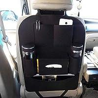 Twiclo Car Auto Seat Back Multi Pocket Storage Bag Organizer with Car Meal Tray