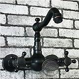 Retro Deluxe FaucetingBathroom Wasserhahn Mischbatterie Badewanne mit Löwenfüßen Griff schwarzes Öl eingerieben . Bahttub Wasserhahn an der Wand montierte Badewanne tippen. Gy -884 B1B