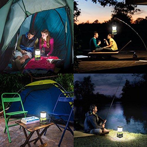 LE Lighting EVER Lanterne de Camping LED, 1000lm Lumière Puissante, Lampe Portable, Etanche, pour Camping, Bivouac, Pêche, Randonnée, Cave, etc.