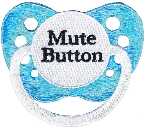 "Babies bambini Pacifier pacificatore Mute muto Button Patch toppa, Officially Licensed Artwork, Iron-On / Sew-On, 2.25"" x 2"" Embroidered ricamato PATCH"