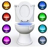 WC luz nocturna, Adoric LED Luz de Inodoro Luz con Detección de movimiento del sensor automático, 8 Cambio de Color,Funciona