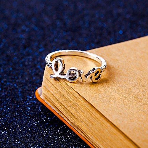 Tysum (TM) Knot Simple Ouvrez la bague r¨¦glable pour les femmes ¨¦toile Lune Amour Trangle 5 r¨¦