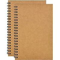 2pcs Carnet Croquis A5, 100 Pages Carnet Notes à Spirale, Carnet de Croquis Papier à Dessin Vierge, Carnet de Dessin…