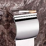 JIUCHANPIN Wc-papierhalter,Toilettenpapier-kasten Toilette edelstahlblech Wc-papierhalter Wand-dose-B
