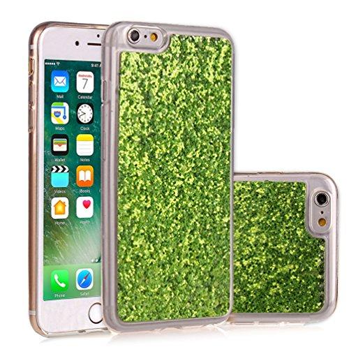 Apple iPhone 6/6S 4.7 Hülle, Voguecase Schutzhülle / Case / Cover / Hülle / TPU Gel Skin (Stein 02) + Gratis Universal Eingabestift Sequins Glitter/Grün
