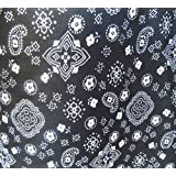 Bandana Black Poly Cotton 58 Inch Wide Fabric By the Yard (F.E.®) by The Fabric Exchange