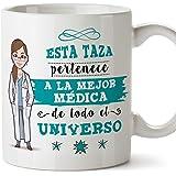 MUGFFINS Médica Tazas Originales de café y Desayuno para Regalar a Trabajadores Profesionales - Esta Taza Pertenece a la Mejo