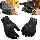 EMOTREE 1 Paar Stechschutzhandschuhe Sicherheits-Handschuh Metzger S/M Kettenhandschuh Anti-Schneide-Handschuhe