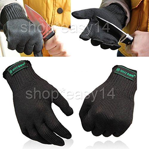 Preisvergleich Produktbild EMOTREE 1 Paar Stechschutzhandschuhe Sicherheits-Handschuh Metzger S / M Kettenhandschuh Anti-Schneide-Handschuhe
