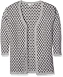 NAME IT Mädchen Strickjacke NITIBIF LS Long Knit Card NMT, Grau (Grey Melange), 134 (Herstellergröße: 134-140)