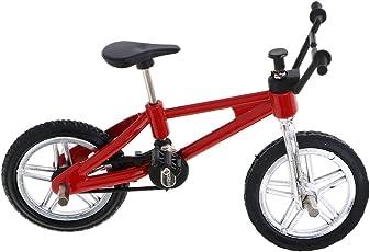 Segolike Stylish Finger Mountain Bike Miniature Metal Bicycle Model Creative Game for Children Kids Gift - red