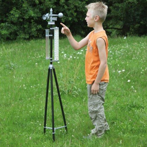 Wetterstation für Kinder, aus Kunststoff, auf Stativ