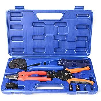 71459a49df5aa1 Iwiss kit Pince à sertir solaire avec fil Cable Cutter, pince à dénuder, MC3