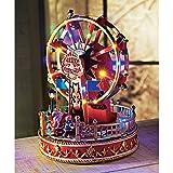 Weihnachtsdeko Spieluhr Riesenrad Beleuchtet Bunt Höhe ca. 28