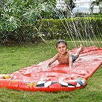 Amiispe Tobogán de Agua al Aire Libre Juguete acuático tobogán de Agua Estera de Diapositivas Adecuado para Uso al Aire Libre como jardín de césped y Patio