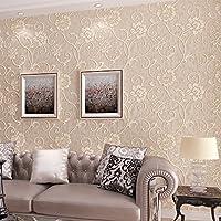 XXTT-Carta da parati stile europeo, stereo 3D Sfondi in tessuto non tessuto, dolce giardino farfalle e fiori, camera da letto soggiorno sfondo TV , c