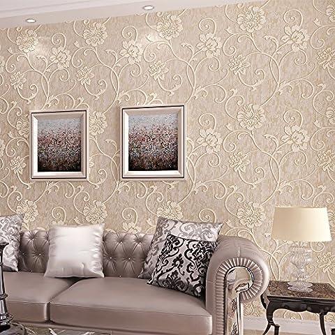 UZI-Papel pintado de estilo europeo, papeles pintados no tejidos 3D estéreos, dulce jardín mariposas y flores, sala de estar dormitorio fondo de pantalla de TV ,