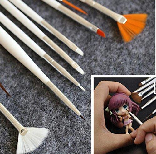 chengyida 15Stück/Set BJD Make-up Tools Haken Line Pen für BJD/SD Face bis Blush Puppe DIY Make-up Zubehör (Sd-pen)