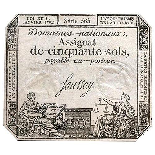 Billetes ANTIGUOS - Billetes de la Revolución Francesa 1792
