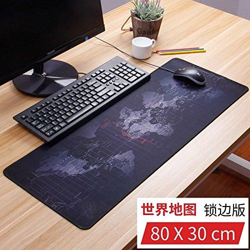 World Mat Table Map (Das Mauspadsuper Size Und Umbau Großer Mouse Pad Home Computer Mat Office Table Mat Ist Nicht Rein Schwarzes Leder, Karte Der Welt, 80 X 30 Cm.)