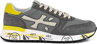 PREMIATA - Uomo Mick 3751 Scarpa Sneakers in Pelle e Tessuto Grigio - 30755