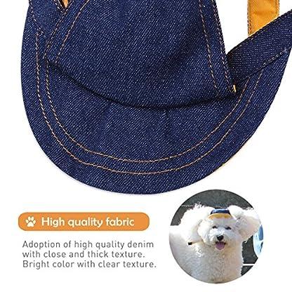 UEETEK Pet Dog Puppy Baseball Cap Visor Hat Sunhat Adjustable Chin Strap Sunbonnet 2