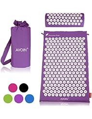 AVOIN colorlife Sports Relax para masaje y acupresión (Colchón 64x42cm, 230 círculos de 27 púas ABS, 6210 puntos de acu presión para estimular y mejorar circulación, relleno de espuma)