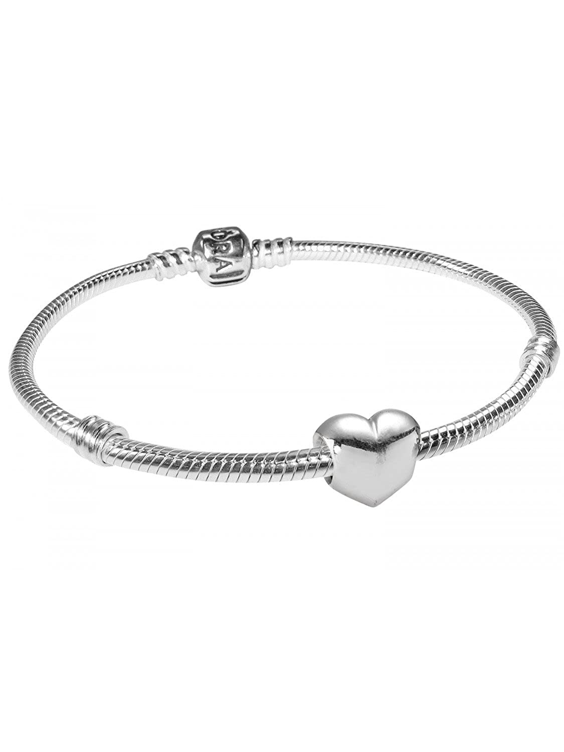 e33d336a6 Fits Pandora Charms Bracelet Authentic 925 Sterling Silver Bead Baby Girl  Heart with Pink CZ European