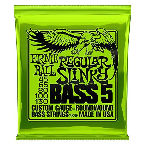 Ernie Ball Regular Slinky 5-Saiter Nickel Wound E-Bass Saiten - 45-130 Gauge -