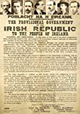 Poster Irland 1916 Proclamation - mit Sieben