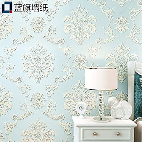 BIZHI Classical 3D Anaglyph Wallpaper Art Deco European style Wall Covering Non-woven Paper Wall Art,9063