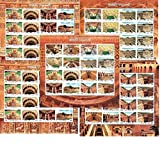 #6: 2017 India stepwells stepwell Full Complete Set of 5 sheetlets bavari bavadi