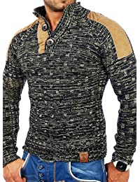Tazzio pull en tricot pour homme motifs tZ - 3570 hiver