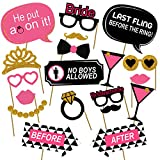 #7: Party Propz™ Bride To Be Photo Props / Bachelorette Photo booth (Set of 19) / Bachelorette Party Supplies / Bachelorette Party Decorations / Wedding Decoration Items / Wedding Props Photography / Wedding Photo Booth Prop