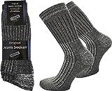 normani 6 Paar Jeans Socken mit Frotteesohle aus atmungsaktiver Baumwolle Farbe Grau Größe 43/46